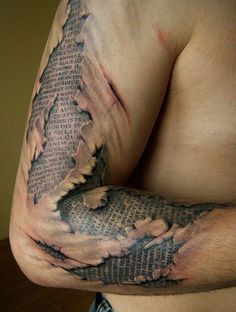 Okay.. I'm a tattoo lover.. and while this is freakin' insanely awesome, I'm cringing. O.o