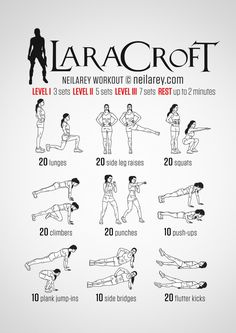 For all my Tomb Raider fans, I found this workout by Neila Ray. Happy exploring ✌️