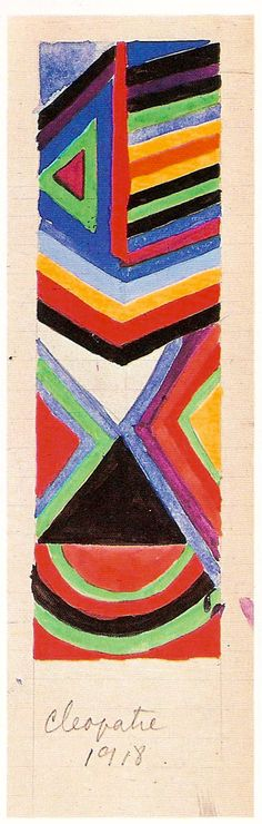 Scarf design by Sonia Delaunay for Cleopatra 1918.