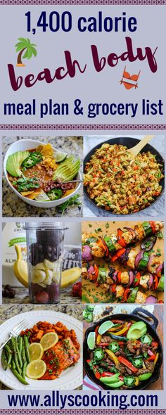 Calorie Beach Body Meal Plan & Grocery List - Keto for beginners Ketogenic Diet Meal Plan, Keto Meal Plan, Gm Diet, 1400 Calorie Meal Plan, Paleo Diet, Lunch Meal Prep, Easy Meal Prep, Meals Under 400 Calories, 500 Calories
