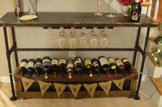 DIY Pipe Bar Table from MrsStellato.com
