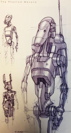Battle Droid designs by Doug Chiang