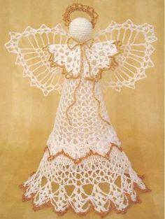 Maggie's Crochet · Angel Victoria Tree Topper Crochet Pattern