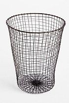 Woven Wire Trash Can   #UrbanOutfitters    i want this trash can so bad for when i move back!