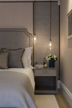 Covent Garden // Penthouse // Master Bedroom // Louisa Penn Interiors (www.louisapenninteriors.com) with photography by Phil Durrant
