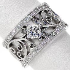 large diamond ring band | Engagement Rings in Los Angeles, Wedding Rings in Los Angeles, Diamond ...