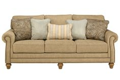 ashley davora caramel sofa from mathis brothers for 581