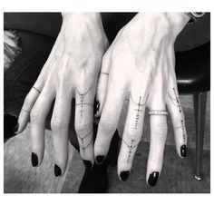 Finger jewellry tattoo by Dr. Woo