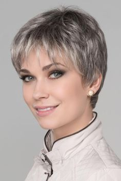 Ginger Mono by Ellen Wille Wigs - Monofilament Top, Lace Front Wig Coupe de cheveux Stylish Short Haircuts, Popular Short Haircuts, Short Pixie Haircuts, Short Hairstyles For Women, Haircut Short, Popular Hairstyles, Bob Haircuts, Short Grey Hair, Short Hair With Layers