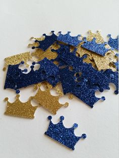 Royal Prince Baby Shower Decorations, Royal Blue and Gold Crown Prince Confetti, Crown, Prince Crown, Baby Crown, Prince Baby Shower by SugarPlumPartyCo on Etsy https://www.etsy.com/listing/288220419/royal-prince-baby-shower-decorations