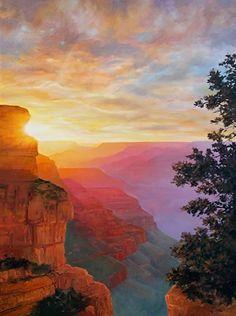 Grand Canyon Desert Sunset Painting