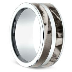 Camo Double Inlay Men's Wedding Ring in Cobalt www.brilliance.co...