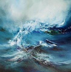 The Lip Painting Winter Painting, Blue Painting, Large Painting, Alison Johnson, Sea Paintings, Original Paintings, Wave Art, Sea Art, Great Pictures