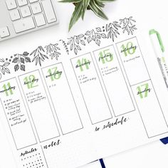 Bullet journal inspiration and layout ideas Planner Bullet Journal, Bullet Journal Notes, Bullet Journal Ideas Pages, Bullet Journal Spread, Bullet Journal Layout, Bullet Journal Numbers, Bullet Journal Leaves, Bullet Journal Ideas Handwriting, Journal Inspiration