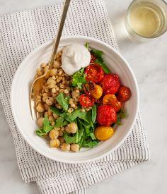 roasted cherry tomato bowls (vegan) / @loveandlemons