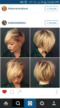 If i ever had to cut my hair this short this would be the haircut I'd choose!