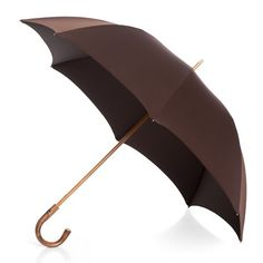 Francesco Maglia 1854 men's italian handmade umbrella with chestnut handle and dark brown canopy ( art.334 ), $249