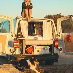 Vanlife Magazine, your inspiration to live the Van Life. Learn how to travel … Vanlife Magazine, your inspiration to live the Van Life. Learn how to travel full time. T4 Camper, Camper Life, Bus Girl, Van Home, Vw T, Cargo Van, Van Living, Vans Girls, Live