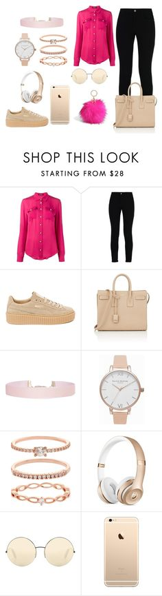 """""""Cool day, Chill day"""" by prettyhurts2003 ❤ liked on Polyvore featuring Balmain, STELLA McCARTNEY, Puma, Yves Saint Laurent, Humble Chic, Olivia Burton, Accessorize, Victoria Beckham and Torrid"""