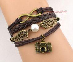 infinity, harry potter and camera bracelet.
