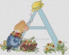Buy Seraphina Alphabet Letter A Cross Stitch Kit Online at www.sewandso.co.uk