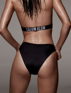 Kendall Jenner celebrates the return of Calvin Klein swimwear in the Intense Power one-piece suit. Photographed for LOVE magazine. #mycalvins