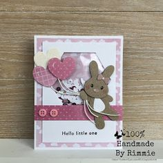 Handmade By Rimmie: Schudkaartje Eline's bunnies Scrapbooking, Scrapbook Cards, Kids Cards, Baby Cards, Baby Birthday, Birthday Cards, New Born Baby Card, Marianne Design Cards, Diy And Crafts