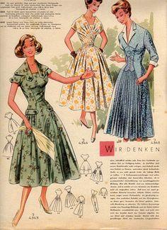 "Photo from album ""retro"" on Yandex. Motif Vintage, Vintage Dress Patterns, Clothing Patterns, Barbie Vintage, Vintage Girls, Vintage Outfits, Vintage Dresses, 1950s Fashion, Vintage Fashion"