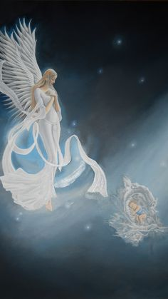 """""""Heaven Sent""""........oil on paper  by Raven Wing Hughes"""
