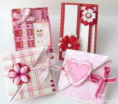 Multi Fold Valentines Cards by Holly at Ribbons and Glue