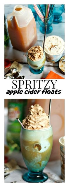Spritzy Apple Cider Floats | ReluctantEntertainer.com #harvest #halloween