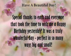 Birthday wishes thanks Birthday Wishes Reply, Birthday Wishes For Nephew, Birthday Words, Birthday Thanks, Birthday Quotes For Me, Happy Birthday Greetings, Birthday Love, Birthday Gifs, Birthday Cakes