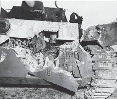 Thia Panzer 4 has suffered catastrophic hull damage from a direct hit from a large caliber enemy tank round