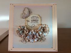 Card decorated with craftwork cards tea dance papers