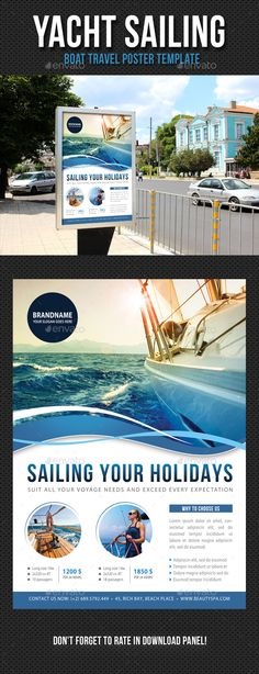 Yacht Sailing Poster Template PSD. Download here: http://graphicriver.net/item/yacht-sailing-poster-template-v05/13569718?ref=ksioks