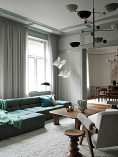 The interior architect Joanna Laven has recently renovated Apartment O, a beautiful Art Nouveau apartment in Stockholm Östermalm. When Erik Bratsberg. Interior Art Nouveau, Living Room Designs, Living Room Decor, Bedroom Decor, Interior Design Blogs, Lovely Apartments, Luxury Apartments, Kitchens And Bedrooms, Piece A Vivre