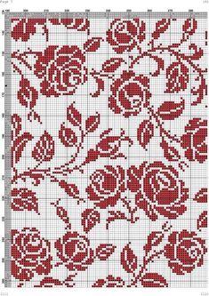 Ravelry: Filetstueck's Handkerchief / hanky in filet-crochet with scalloped edge Filet Crochet Charts, Knitting Charts, Knitting Stitches, Knitting Patterns, Cross Stitching, Cross Stitch Embroidery, Embroidery Patterns, Crochet Curtains, Tapestry Crochet