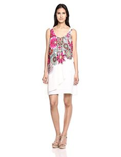 Desigual - VEST_CORVUS - Robe - Femme - Blanc (Tiza 1010) - 44