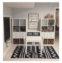 great idea for kids playroom using ikea kallax or expedit with desk and baskets! great idea for kids playroom using ikea kallax or expedit with desk and baskets!