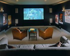 Dark Room Colors what color should i paint my home theater room? — good questions
