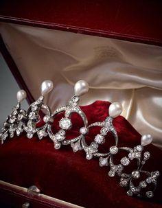 Pearl and Diamond Tiara More