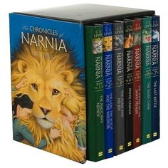 The Chronicles of Narnia Hardcover Boxed Set ($92) ❤ liked on Polyvore featuring books, fillers and narnia