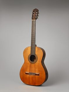 Andres Segovia's 1912 classical guitar, given to him by the maker, Manuel Ramirez in Madrid.