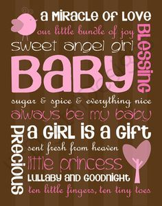My sweet princessyou will always be my precious baby girl no matter how old you are! Girl Shower, Baby Shower, Baby Clip Art, Baby Quotes, Subway Art, Printable Designs, Album, Baby Scrapbook, My Precious