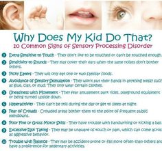 10 signs of Sensory Processing Disorder