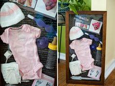 Baby shadow box Memory box Premie shadowbox