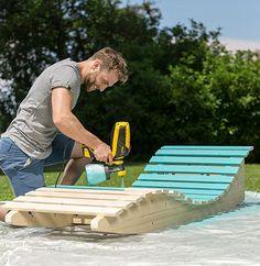Outdoor Furniture Plans, Diy Pallet Furniture, Diy Pallet Projects, Outdoor Projects, Garden Furniture, Garden Loungers, Diy Outdoor Kitchen, Garden Seating, Diy Garden Decor