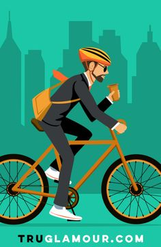 Ride your bike to work or school. It's easy to fit into your life and it has great health benefits.