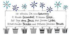365 Tage Geburtstagskarte Faltkarte Wünsche zum Geburtstag handgemacht bunte Blumen Glitzer
