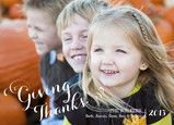 Giving Thanks Thanksgiving photo card by Delphine for Cardstore